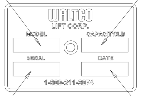 How to locate your Waltco serial number and model