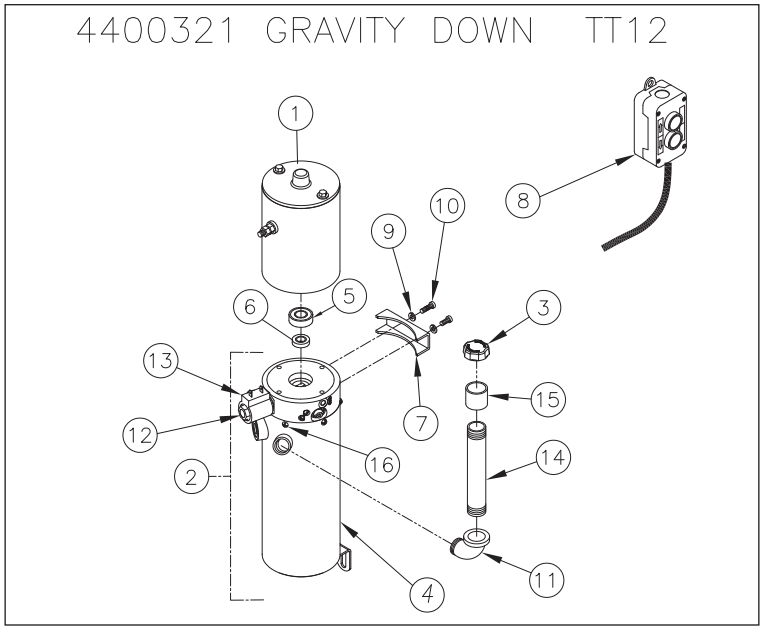 Thieman Lift Gate Wiring Diagram For Model Tt 12