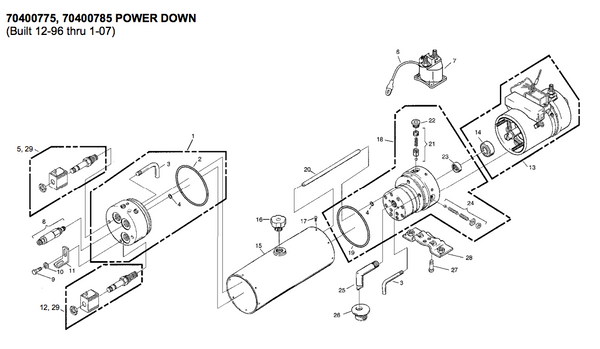 waltco liftgate wiring diagram explained wiring diagrams rh dmdelectro co 12 Volt Hydraulic Pump Parts Diagram Hydraulic Pump Circuit Diagram