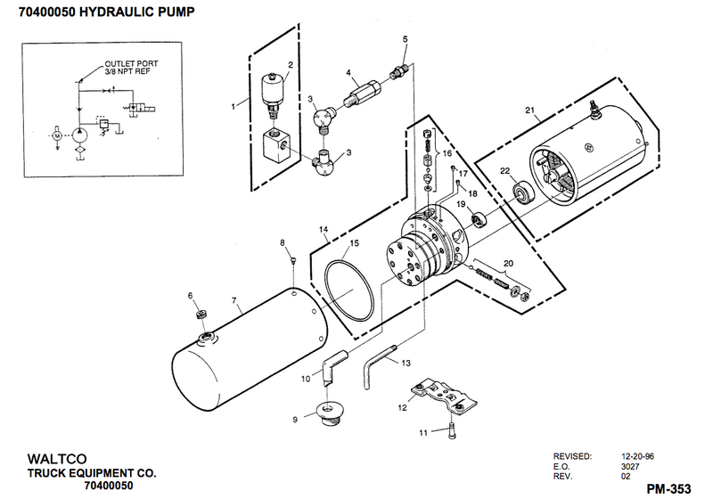 Waltco Power Unit found on MDR and ACL models 70400050