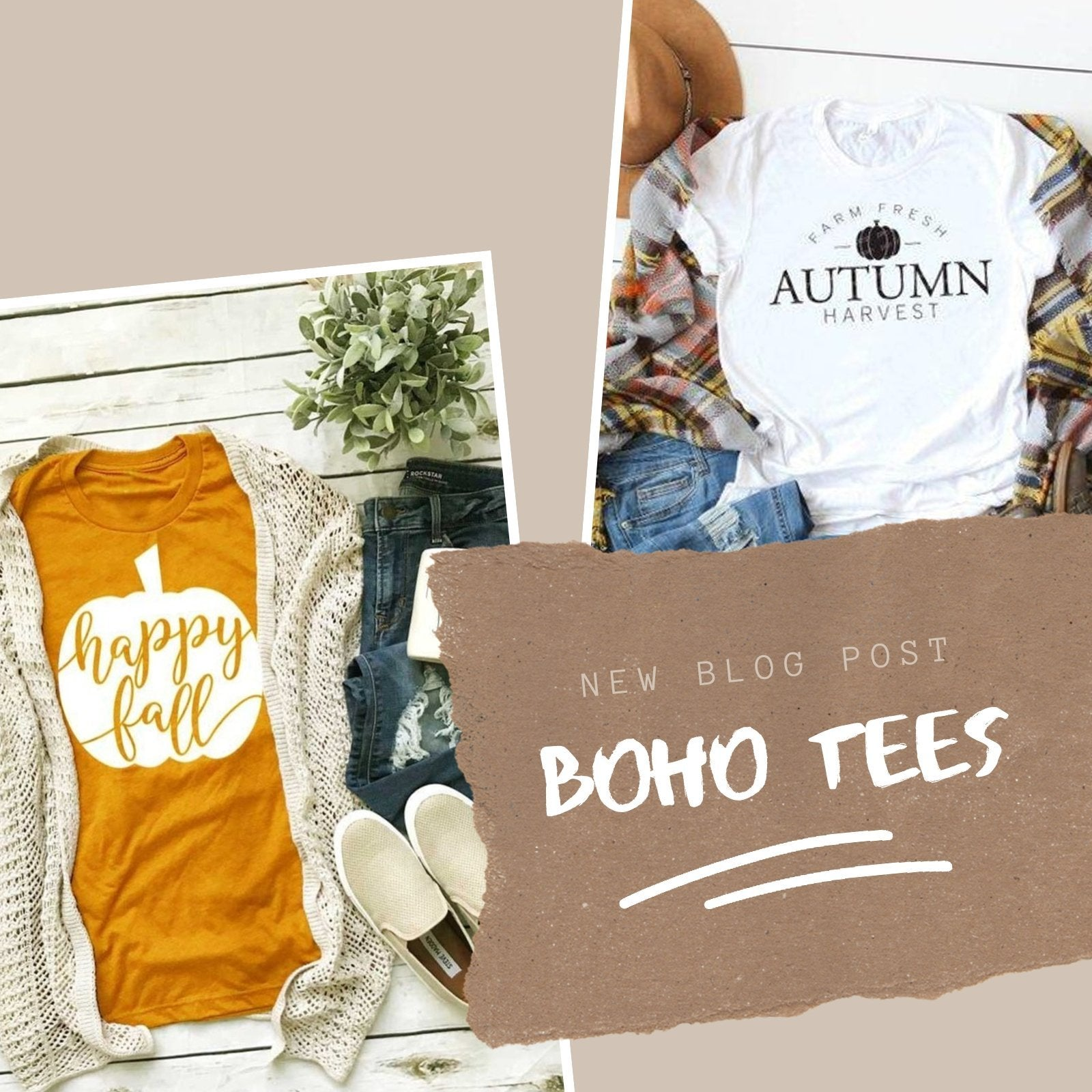 Best Boho Tees to wear with your PSL