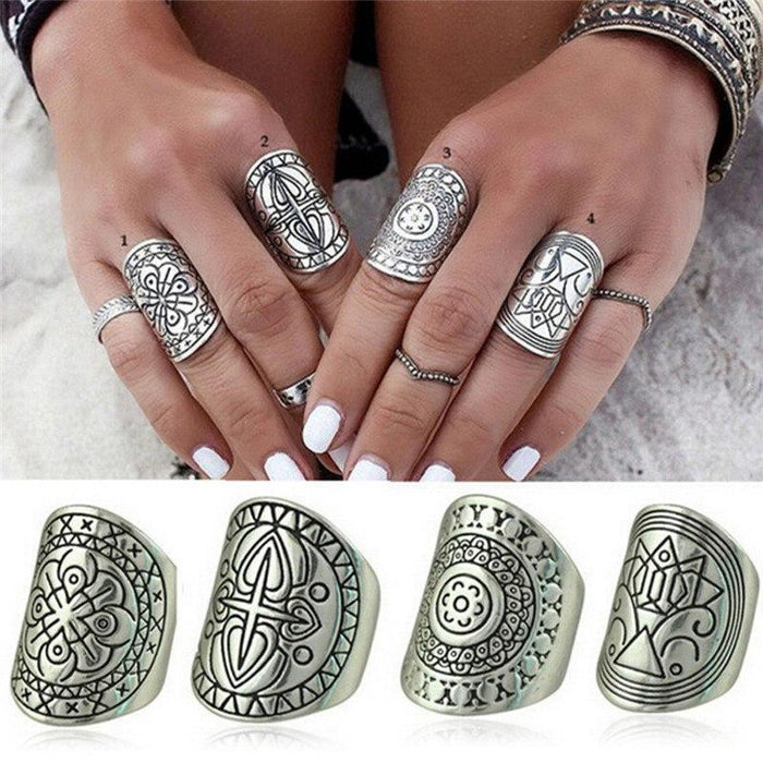 Bohemian Vintage Ring Set - The Young Hippie