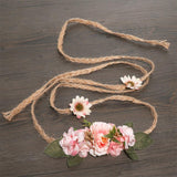 Boho Bridal Hemp Rope Waist or Head Band - The Young Hippie