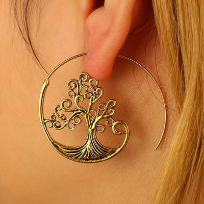 Boho Swirl Tribal Earrings | Style Select - The Young Hippie