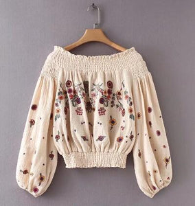 Evelyn. Hippie Chic Floral Blouse | Color Select - The Young Hippie