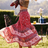 Joy: Paisley Floral Print Boho Skirt - The Young Hippie