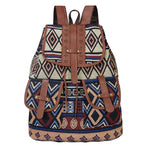 Margot. Aztec Boho Patterned Backpack