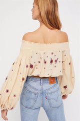 Evelyn. Hippie Chic Floral Blouse | Color Select