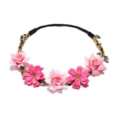 Rose Bohemian Flower Crown Hair Accessory - The Young Hippie