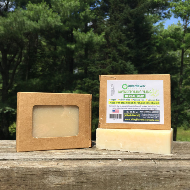 elderflower-botanicals - Lavender Ylang Ylang Herbal Soap - Herbal Soap