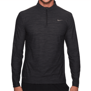 Nike Mens Breathe Dry Quarter Zip Long Sleeve Shirt