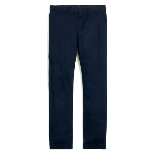 J.CREW-Slim-fit flex chino-Navy