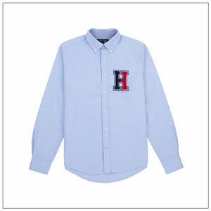 Tommy Hilfiger Light Blue Slim Fit Men's Poplin Button-down Shirt