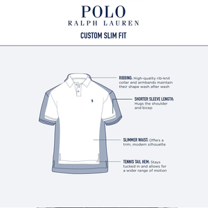 RALPH LAUREN -Men's Custom Slim-Fit Mesh Polo Shirt