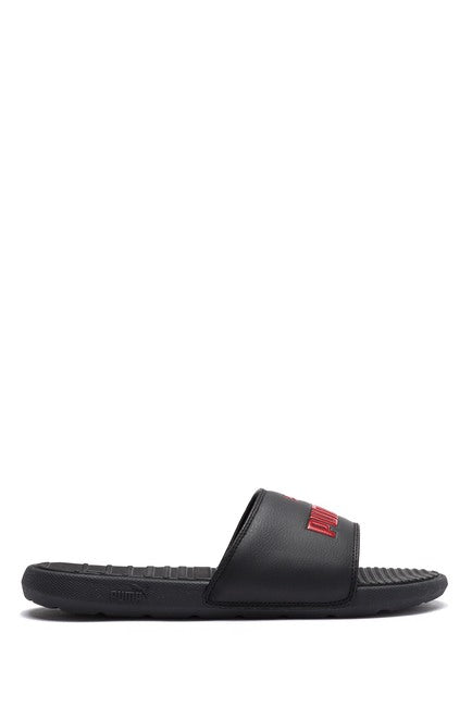 PUMA- Cool Cat Sport Slide Sandal- BLACK/RED LOGO