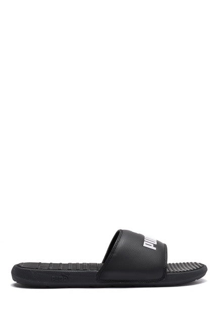 PUMA- Cool Cat Sport Slide Sandal- BLACK/Print LOGO