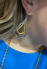 Two Tone Marquis Earrings