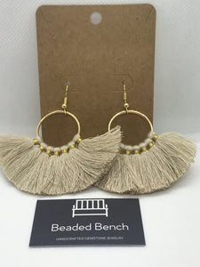 Large Fan Tassel Hoops