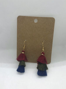 Fall Inspired Tassel Earrings