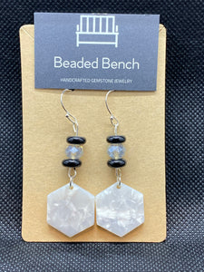 Acrylic Hexagon Beaded Earrings