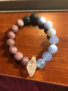 Anxiety Bracelet with Clear Quartz