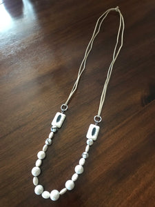 Feather Howlite Necklace