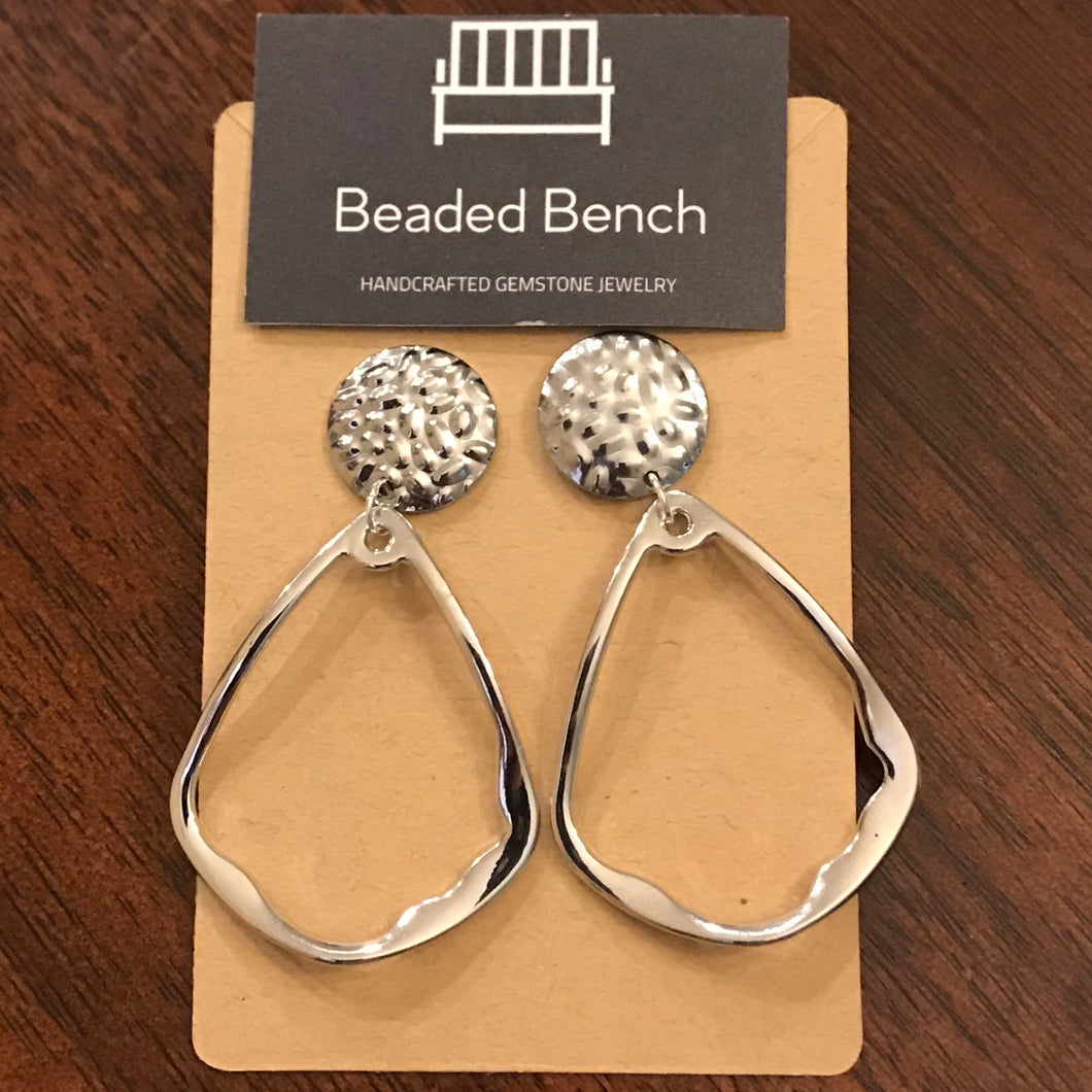 Hammered Pear Earrings
