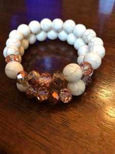 Howlite Rose Gold Stack