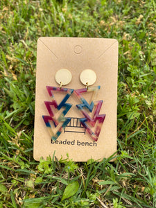 Multi Colored Arrow Earrings