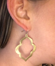 Smooth Gold Quatrefoil Earrings