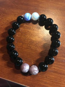 Anxiety Bracelet - Black Agate