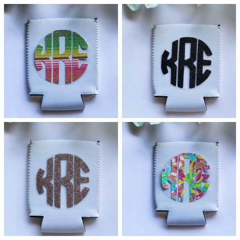 Monogram Summer White Koozie