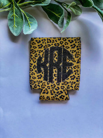 Monogram Cheetah Koozie