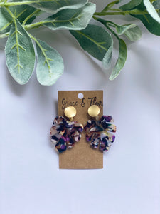 Summer Monstera Acrylic Leaf Earrings
