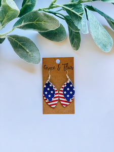 Small Layered Patriotic Earrings