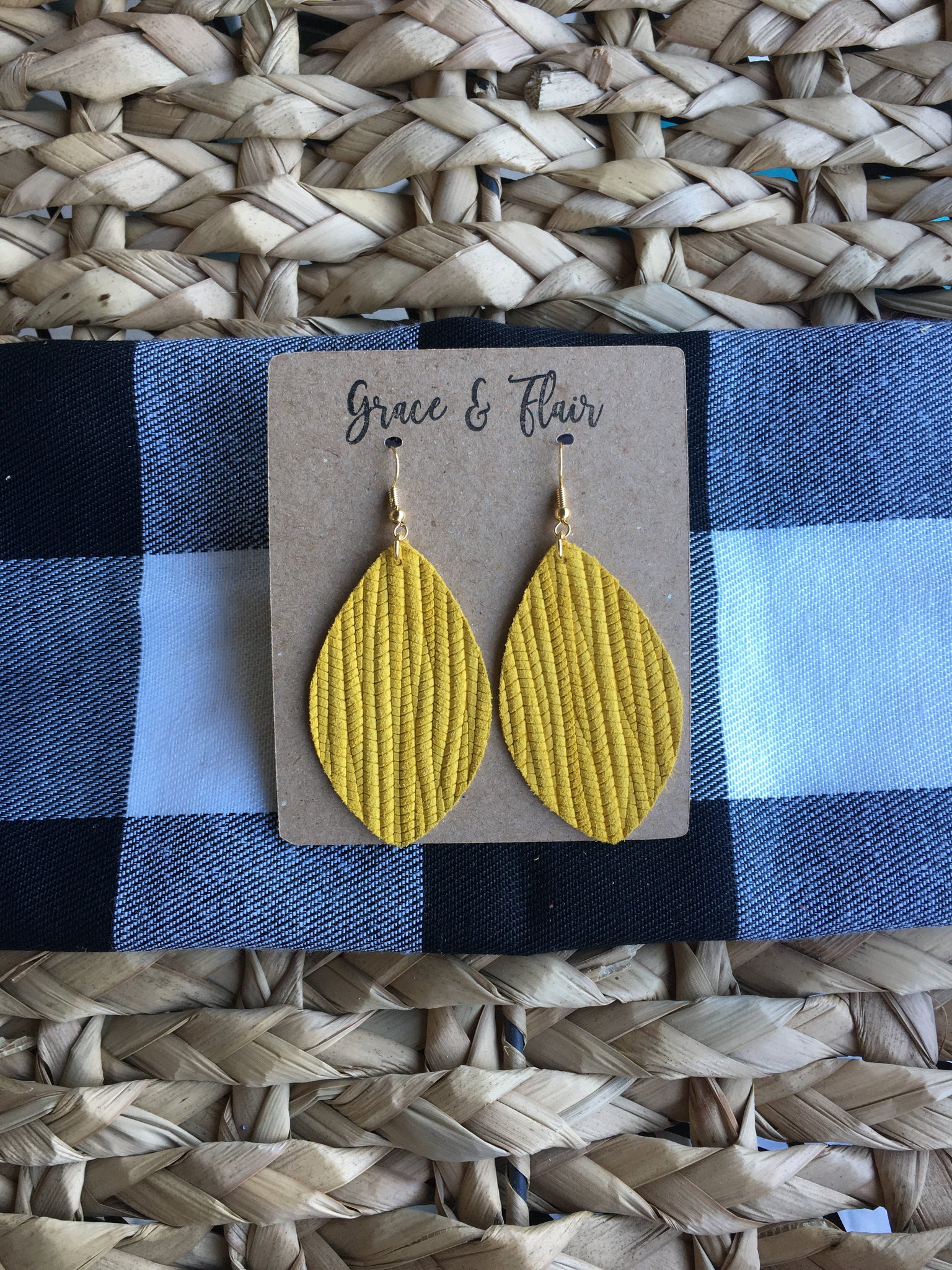 Medium Mustard Petal Earrings