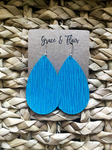 Large Hawaiian Water Teardrop Earrings