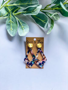 Summer Nights Acrylic Earrings
