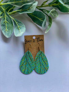 Medium Shade Tree Teardrop Earrings