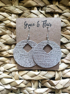 Large Sand Scribble Hoop Earrings