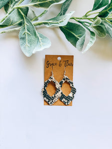Small Boho Snakeskin Earrings