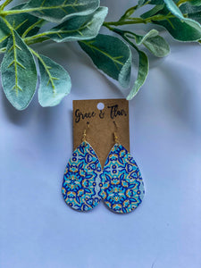 Medium Pool Mosaic Teardrop Earrings