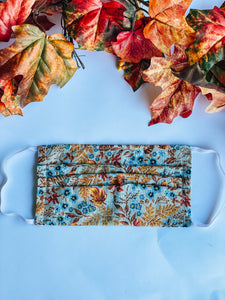 Fall Farmhouse Floral Adult Mask
