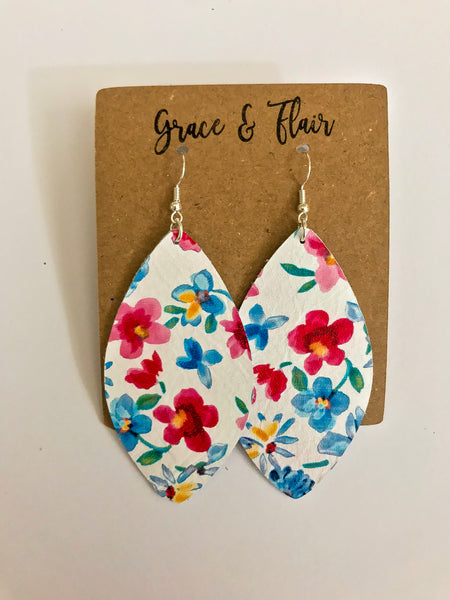 Large Picking Wildflowers Petal Earrings