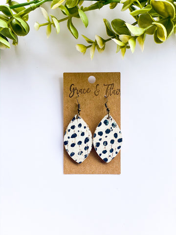 Small Boho Spots Petal Earrings