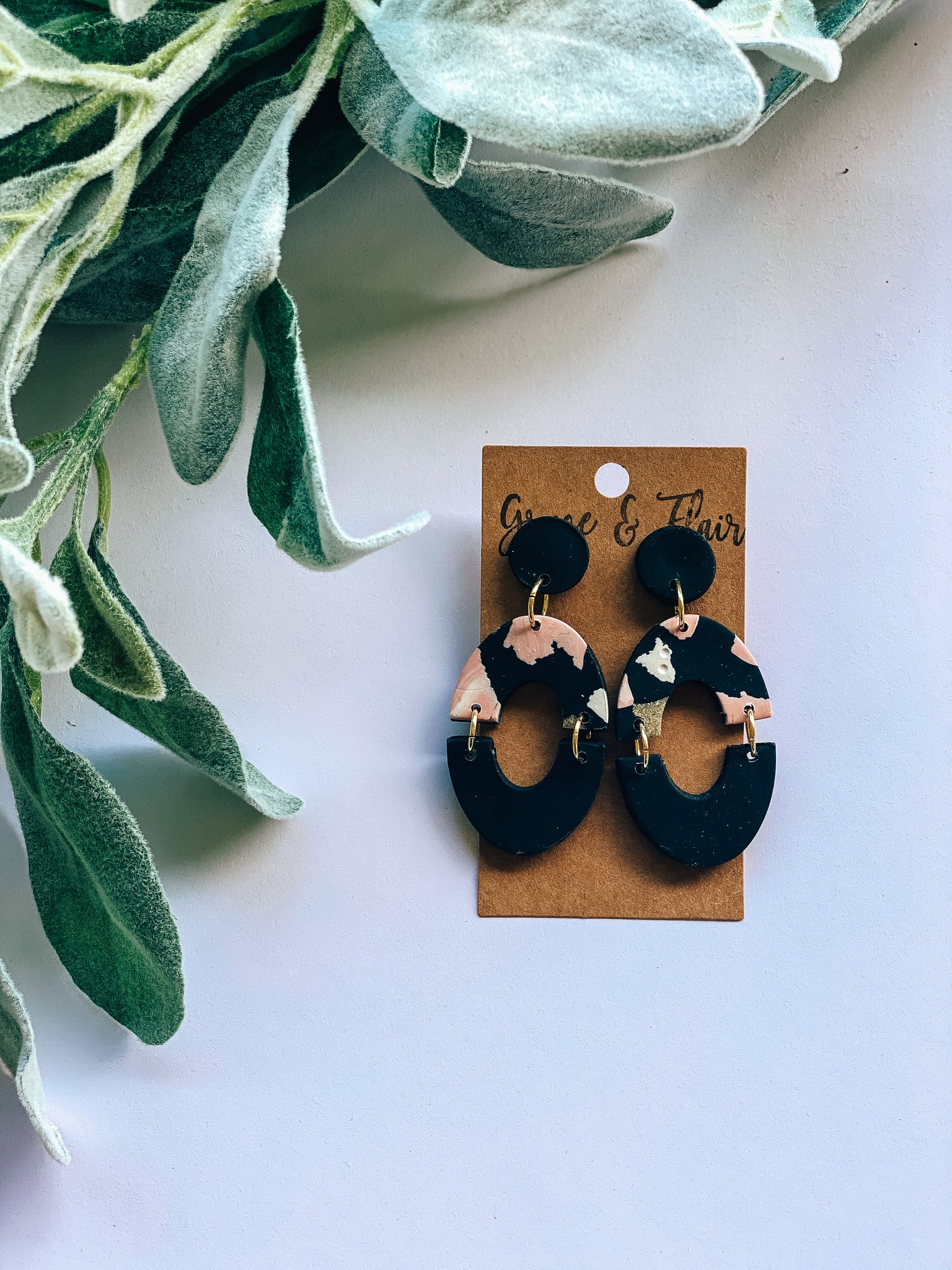 Ballet Slipper Chic Clay Earrings