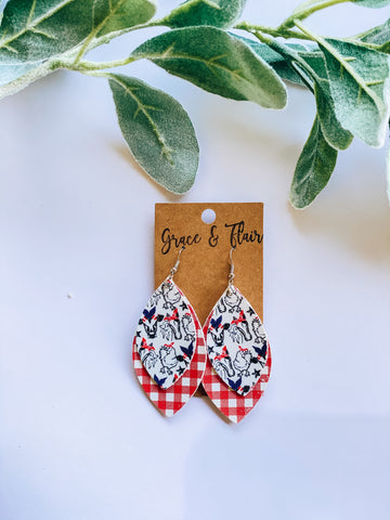 Large Layered Farm Livin' Earrings