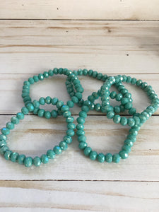 Pool Water Beaded Bracelet