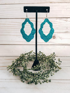 Large Boho Pool Water Earrings