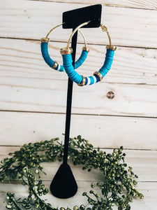 Light Blue Hoop Earrings